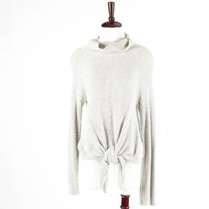 ANTHROPOLOGIE – Gray Knit Turtleneck Sweater Wrap